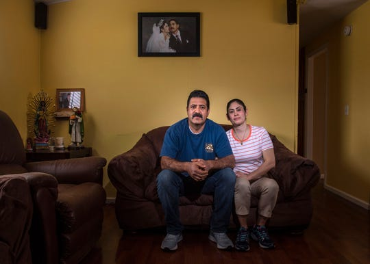 Eduardo and Maria Contreras sit in the living room of their mobile home in San Juan Capistrano on Wednesday, March  20, 2019. The two make too much money for Medi-Cal, but what they earn is still not enough to purchase Covered California health plans because they don't qualify for subsidies under the Affordable Care Act. (Photo by Mark Rightmire, Orange County Register/SCNG)