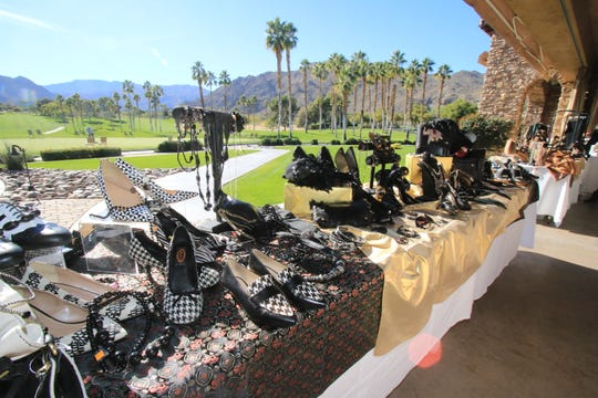 Selections from the outdoor boutique at Angel View's fundraising fashion show at Ironwood Country Club in Palm Desert in January 2019.