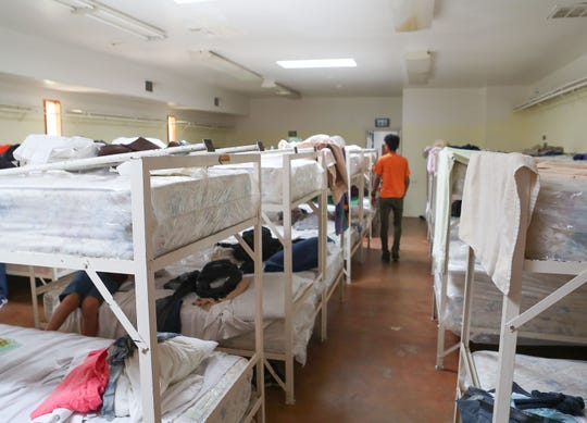The dormitory at Our Lady of Soledad Church in Coachella where a group of asylum seekers from Guatemala is being housed, April 8, 2019.