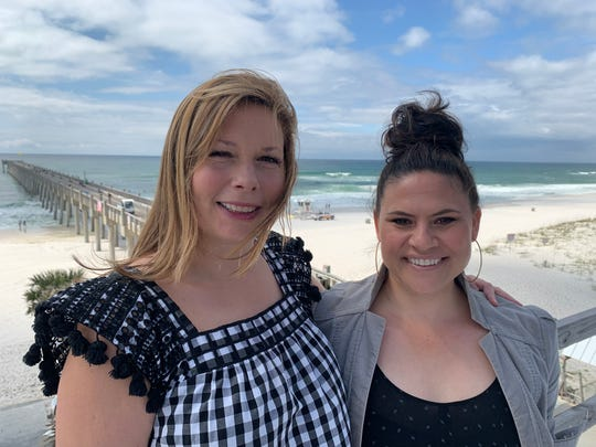 Laura Pinzone and Michelle Wardlow are partners in Pier Suite Events, a new events venue on the top story of the Pensacola Beach pier building.