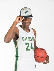 2019- Winter-PNJ All-Area Athlete - Boys basketball Player of the year - DJ Mckenzie from Catholic High School - portrait in Pensacola on Wednesday, March 27, 2019.