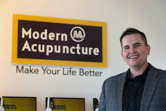 """My favorite part is going to clinics and talking to patients and hearing about amazing the treatment is and how it's changed their life,"" says Modern Acupuncture CEO and co-founder Matt Hale."