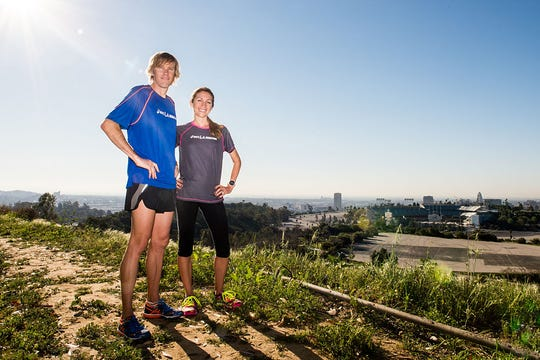 Ryan Hall ran his final marathon and Sara Hall her first at Los Angeles in 2015.