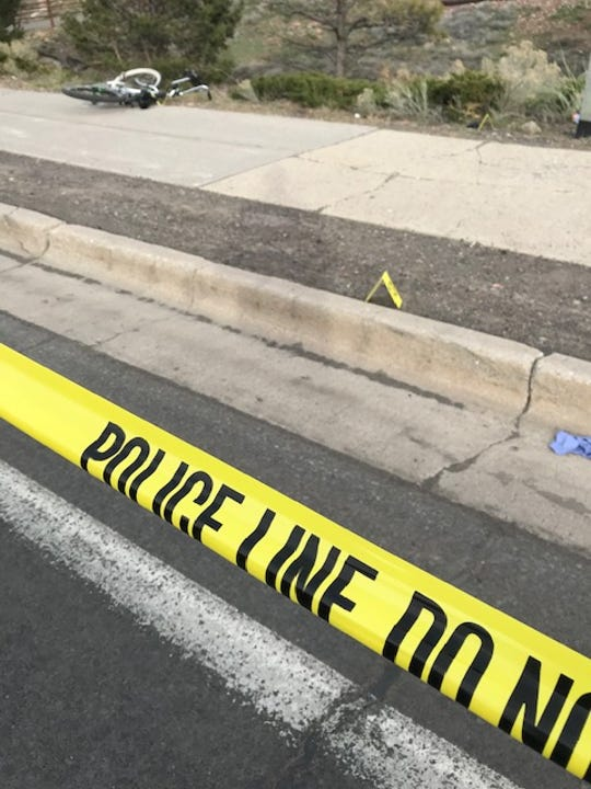 Flagstaff Police investigate an officer-involved-shooting along Historic Route 66 on Monday.