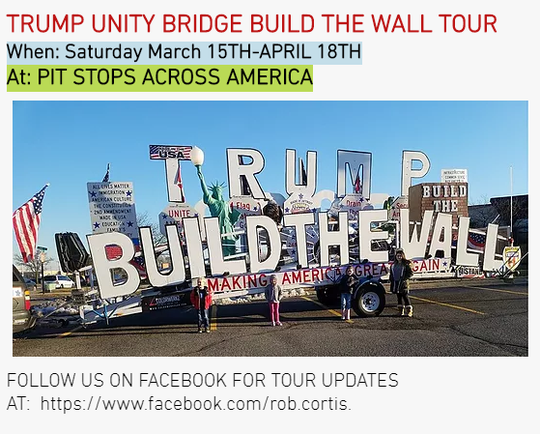 A float called the Trump Unity Bridge was seen moving through Arizona this week. The creator, Rob Cortis, is taking the float on tour to support the president and stress the importance of securing the southern border.