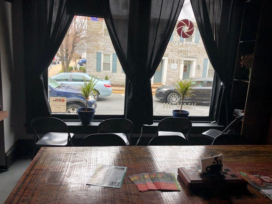 Pull up a chair right at the coffee shop windows at Main Street Photography & Gallery and watch bustling Myerstown in action while enjoying a cup of joe.