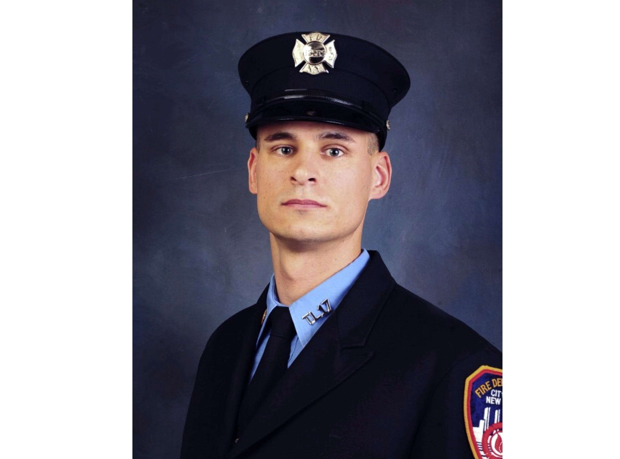 This undated photo, provided in New York, Tuesday April 9, 2019, shows Fire Department of New York firefighter Christopher Slutman. Slutman, a 15-year member of the Fire Dept. of New York, was among three American service members killed by a roadside bomb in Afghanistan on Monday.