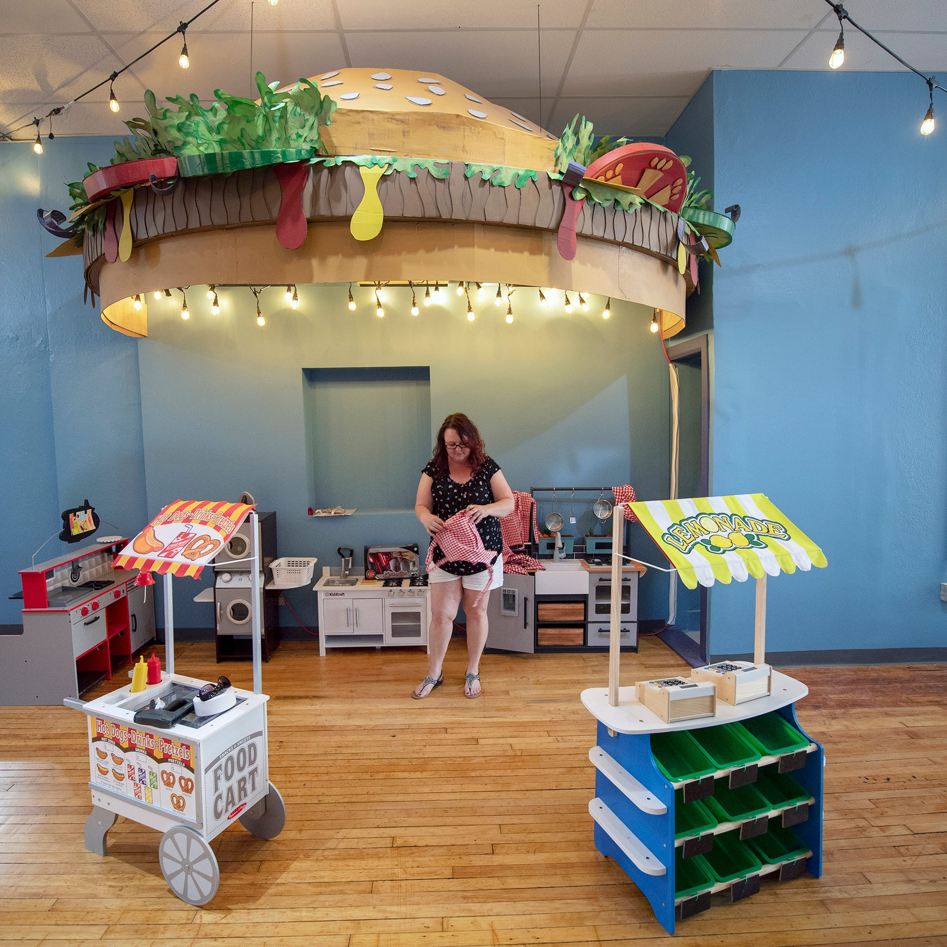 Hanging burgers & giant toadstools, Curious Little Playhouse reimagines downtown York space
