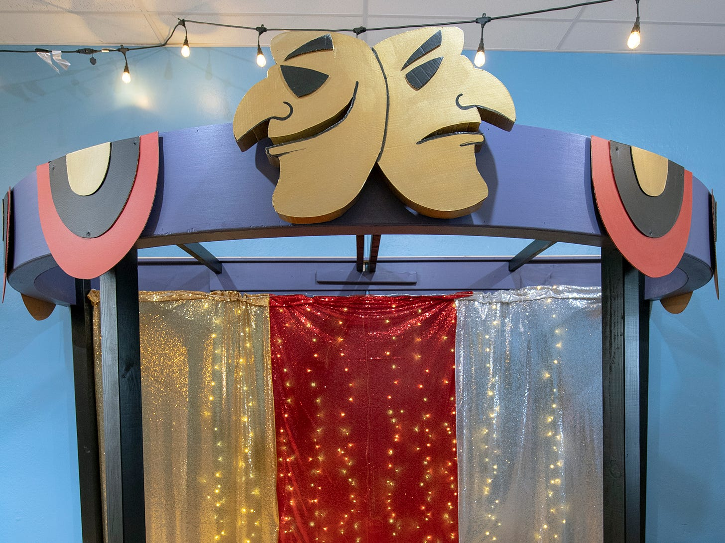 The Theater and Puppet Station is waiting for a curtain to complete the stage at The Curious Little Playhouse.