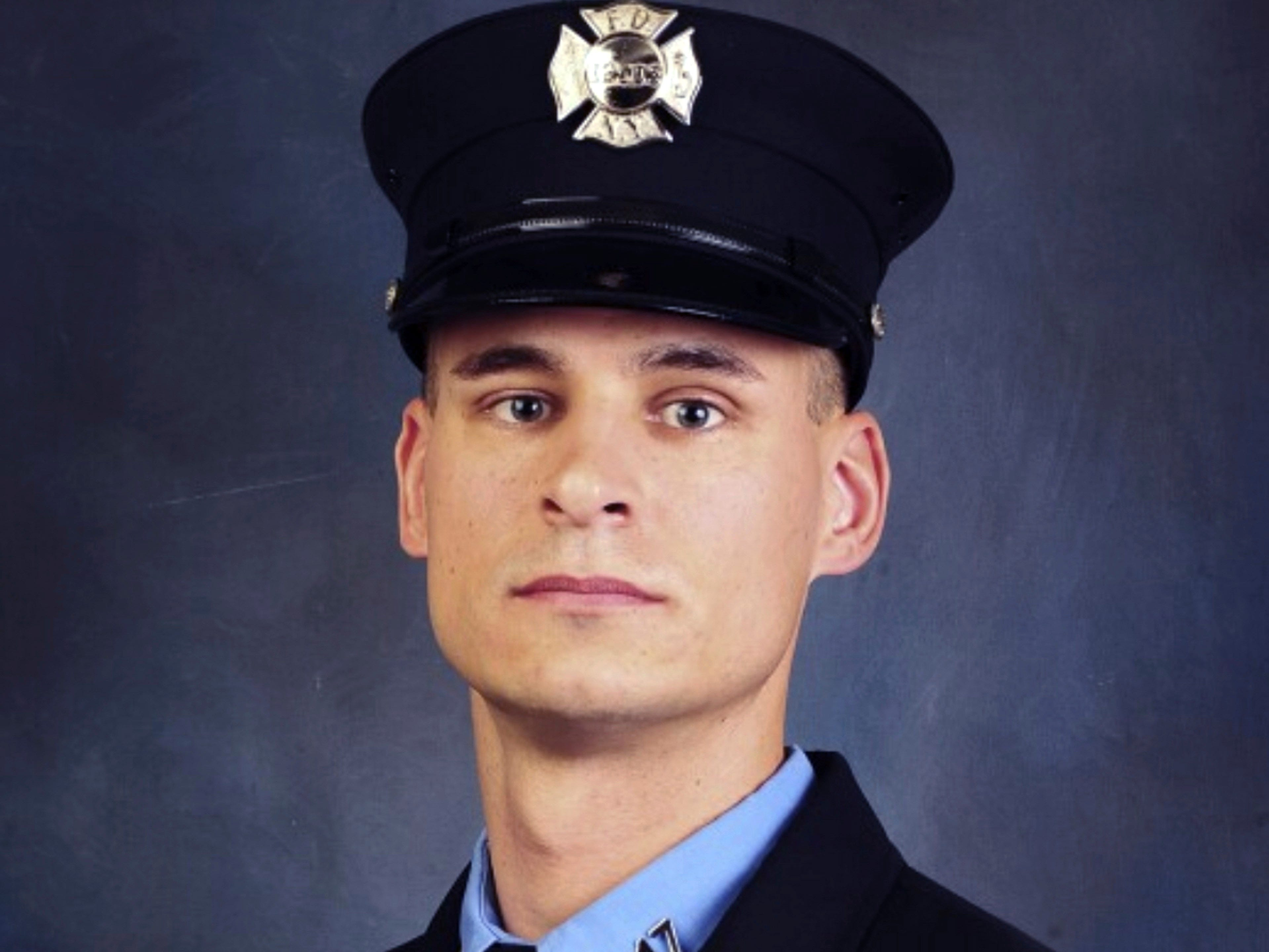 This undated photo, provided in New York on  April 9, shows Fire Department of New York firefighter Christopher Slutman. Slutman, a 15-year member of the department, was among three American service members killed by a roadside bomb in Afghanistan on April 8. His parents live in York County.