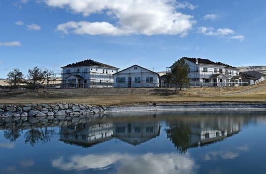 New homes are under construction in Sparks on March 26, 2018.