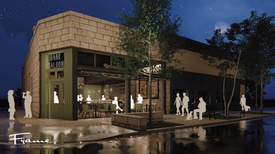 This rendering shows the exterior of Bank Saloon, the bar that will eventually emerge from the historic former Jack's Bar on South Carson Street in Carson City.