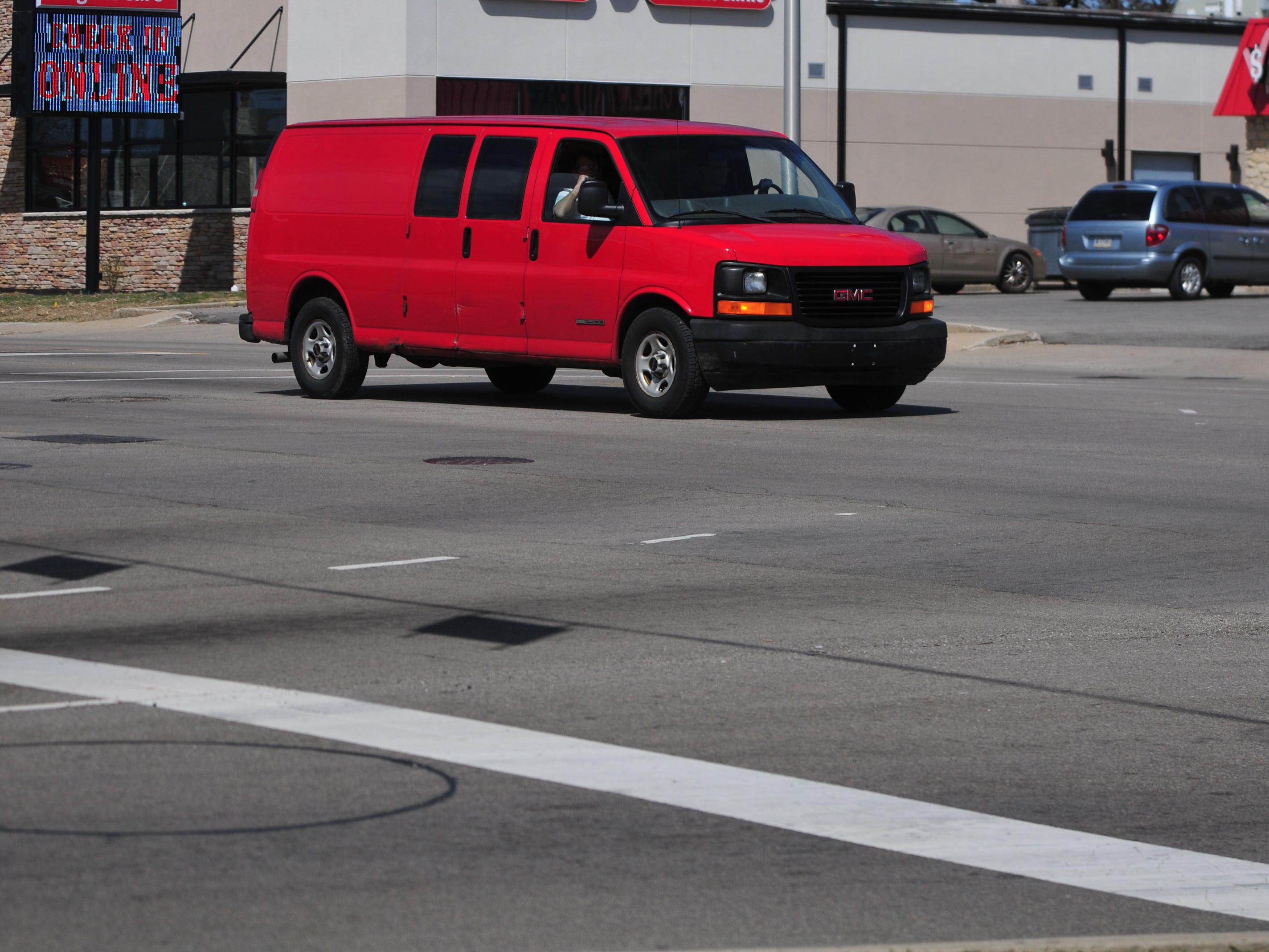 A dotted line to guide turns from South 37th Street onto westbound East Main Street were added during 2015 in an effort to reduce the number of accidents at the intersection.