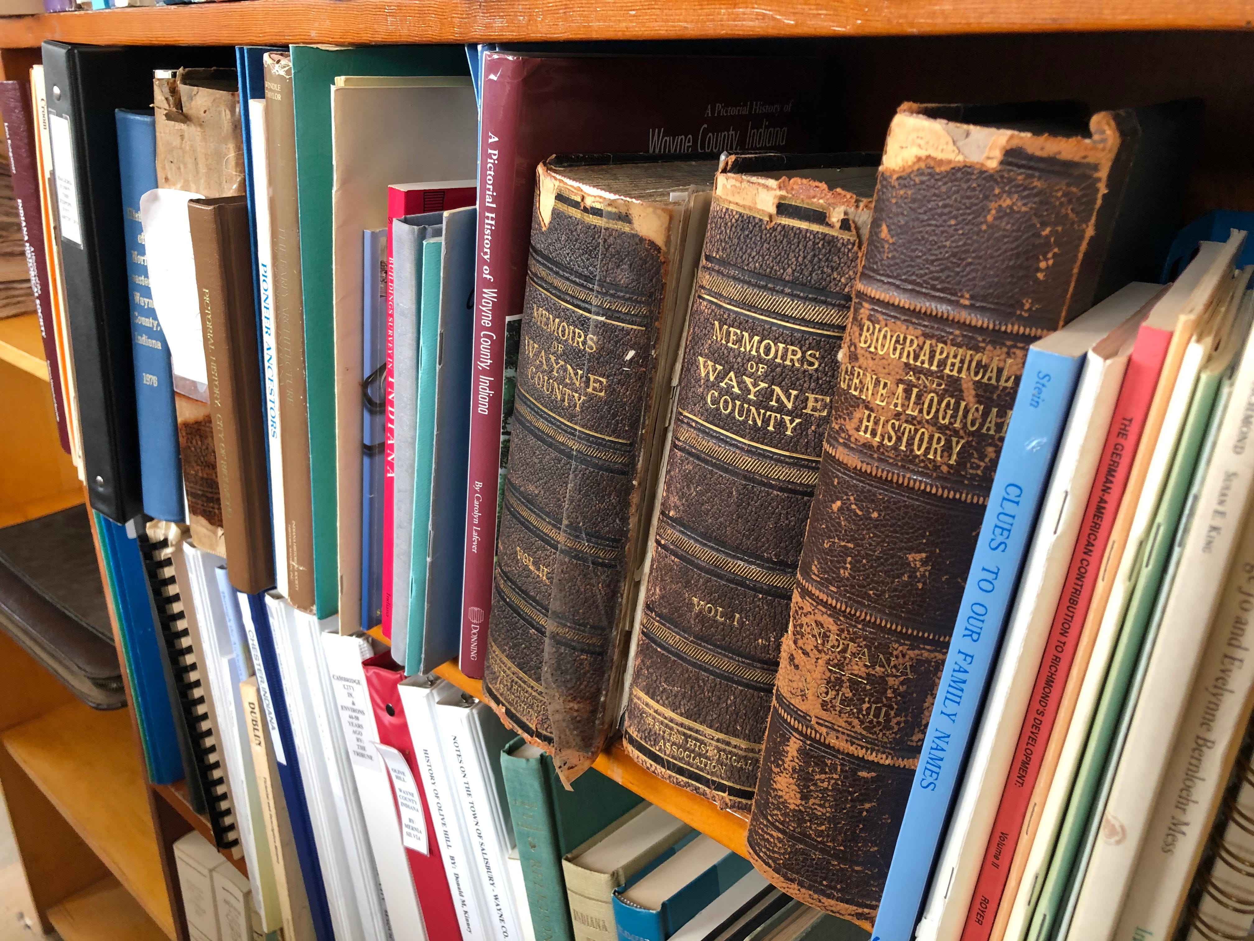 The office of the Wayne County Genealogical Society includes rooms full of reference materials, including books, Richmond city directories, cemetery maps and more.