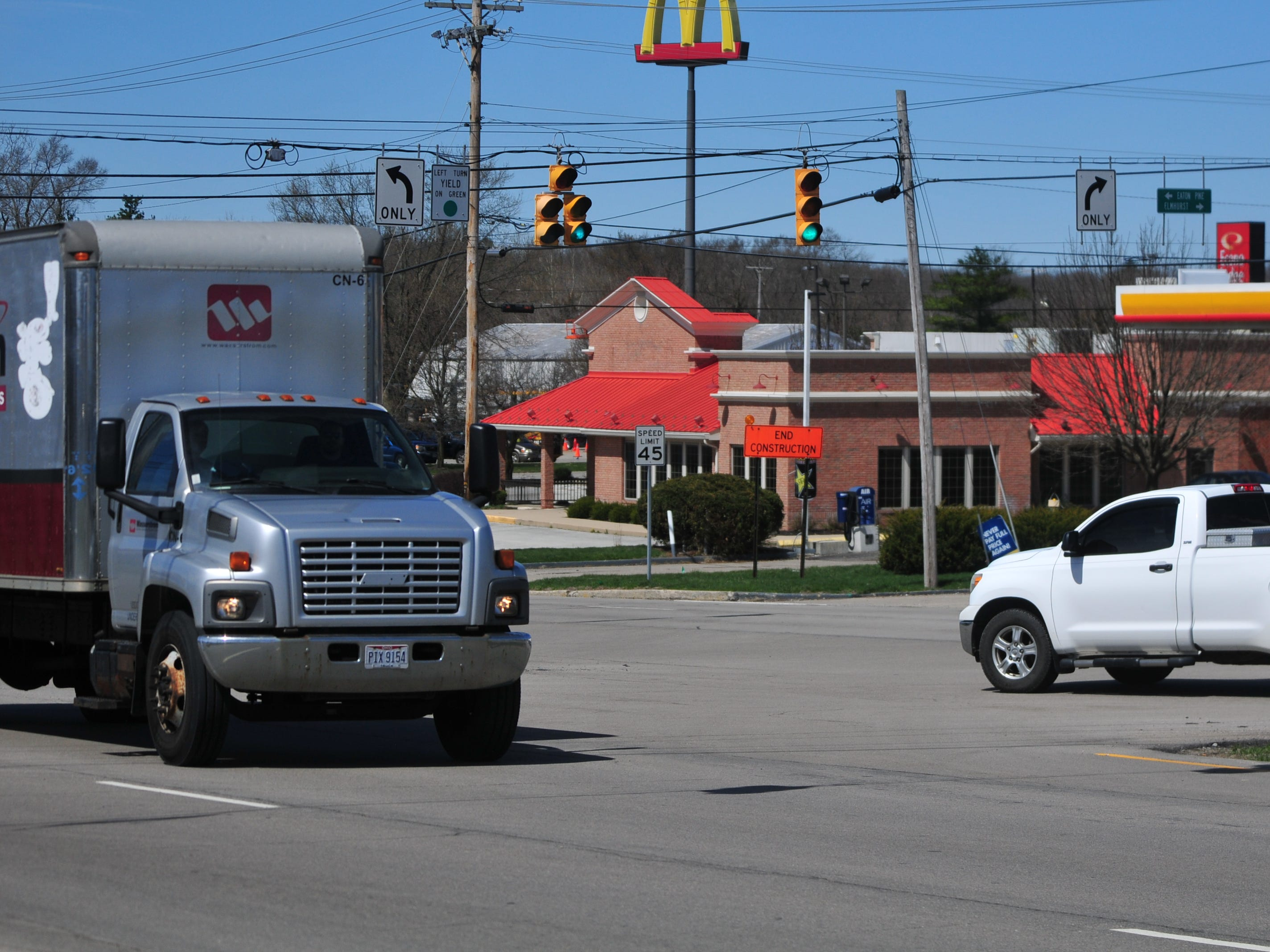 Richmond Police Department reported 13 accidents during 2018 at the intersection of National Road East and West Eaton Pike/Elmhurst Drive.