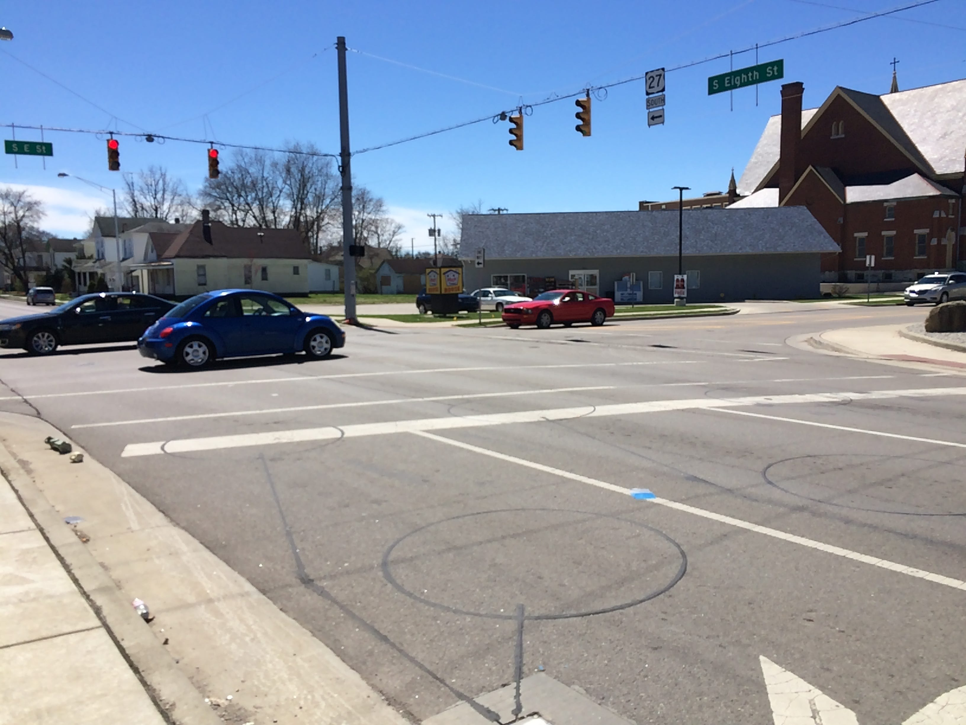 Richmond Police Department reported 12 accidents during 2018 at the intersection of South Eighth and South E streets.