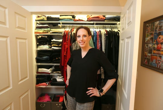 Professional organizer Tamara Turcott helped this bedroom closet in reporter Mary Chao's Brighton home.