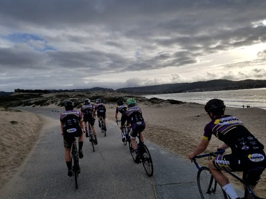 Riders from the Salinas High Mountain Bike Team rode in groups over the weekend to keep riders on the Monterey Bay Coastal Recreation Trail at all hours.