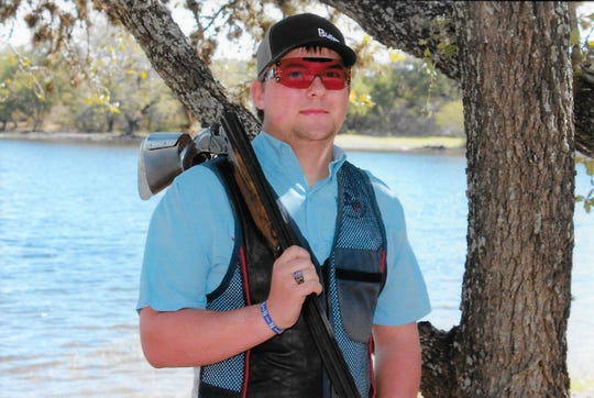 Irion County High School's Nicholas Billington will compete for the Rams Clay Target Team, a student organization for competitive shotgun shooting organized in 2015.