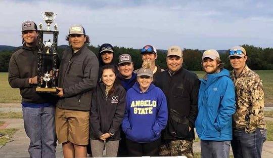 The Rams Clay Target Team recently finished second in a national competition. The team members are (from left to right with trophy) Cody Hada and Coleman Pittillo; (back row, left to right) Sloan Kail, Braden Williams, Colton Cmerek, Colten Hughes, Jacob Bird and Pierce Wilson; front row, left to right) Taylor Cleaveland and Lexi Wickham.