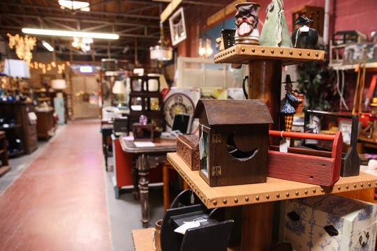 Decor, furniture and consignment items are displayed at ShaMeLess Re, 213 N. Chadbourne St.