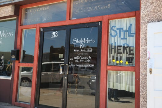 ShaMeLess Re, 213 N. Chadbourne St., specializes in decor, furniture and consignment items.