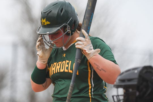 Mardela's Grace Barnes at bat against Snow Hill on Monday, April 8, 2019 in Snow Hill, Md.