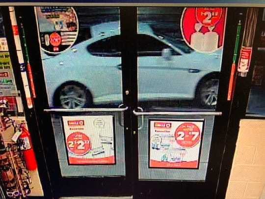 WANTED: Pictured is a suspect vehicle in connection to the armed robbery of a Circle K on Sunday.
