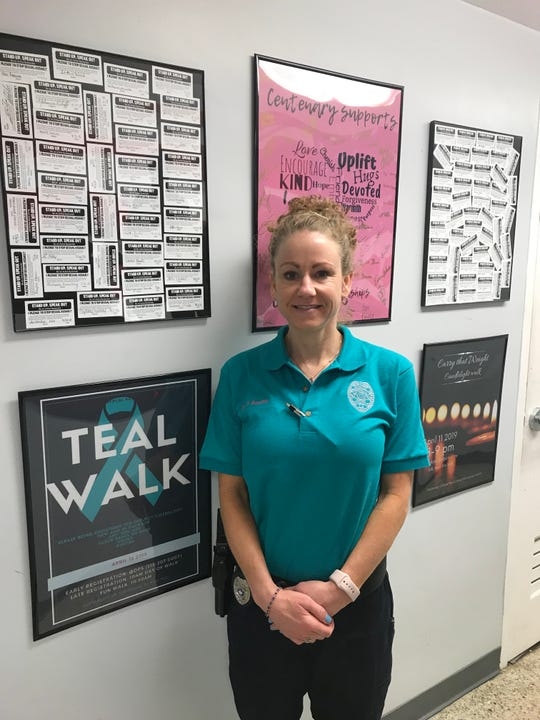 Heather Boucher said she became a police officer to help victims of sexual assault. When Centenary College needed a police detective, she stepped up for the role. Since then, she's taken hold of the sexual assault awareness campaign on campus.