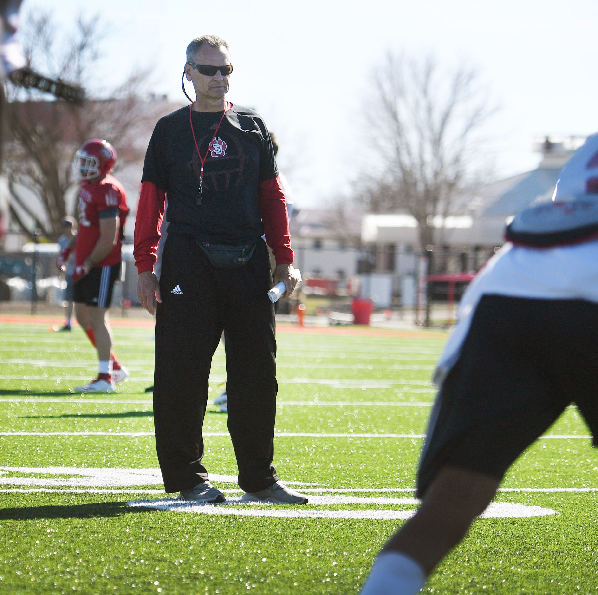 Spring football notebook: South Dakota Coyotes enjoying life in the great outdoors