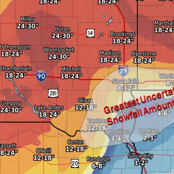 NWS: Sioux Falls winter storm forecasted to bring 8-12 inches of snow