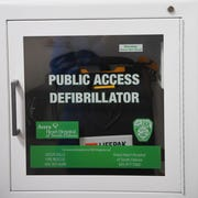 AED, Automated External Defibrillator, Tuesday, April 9, at the Western Mall in Sioux Falls.