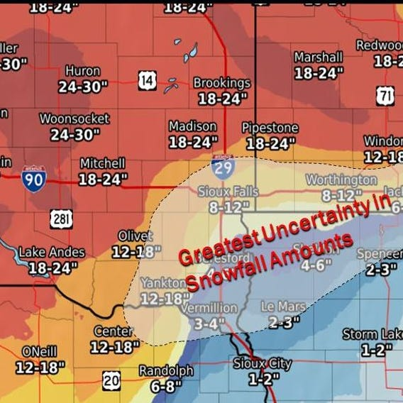 What to know for this week's winter storm in Sioux Falls, surrounding areas