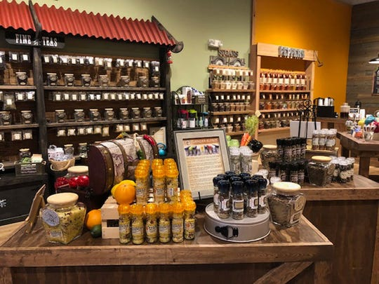An interior photo of a Spice & Tea Exchange store.