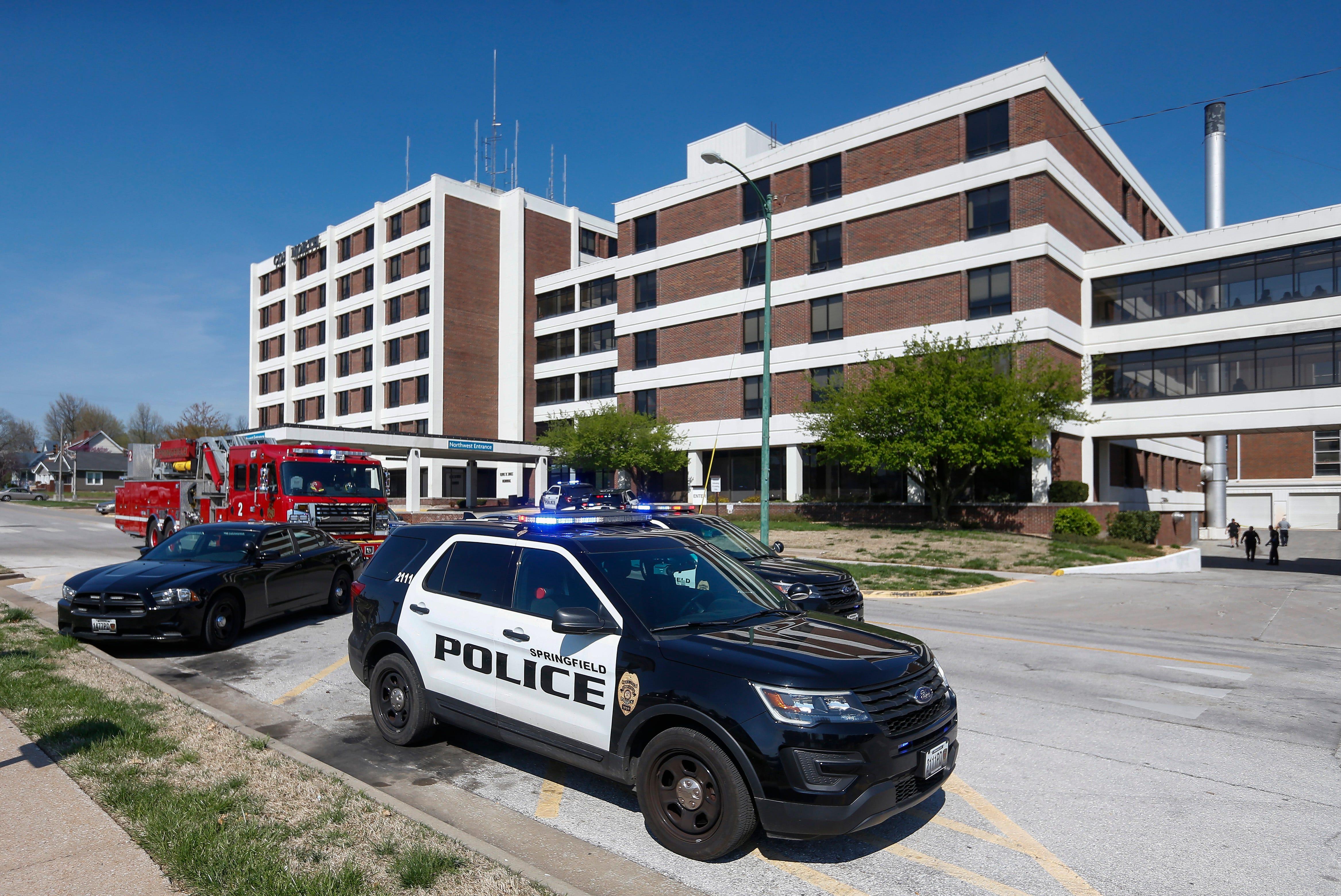 Police investigate a scene near Cox North.