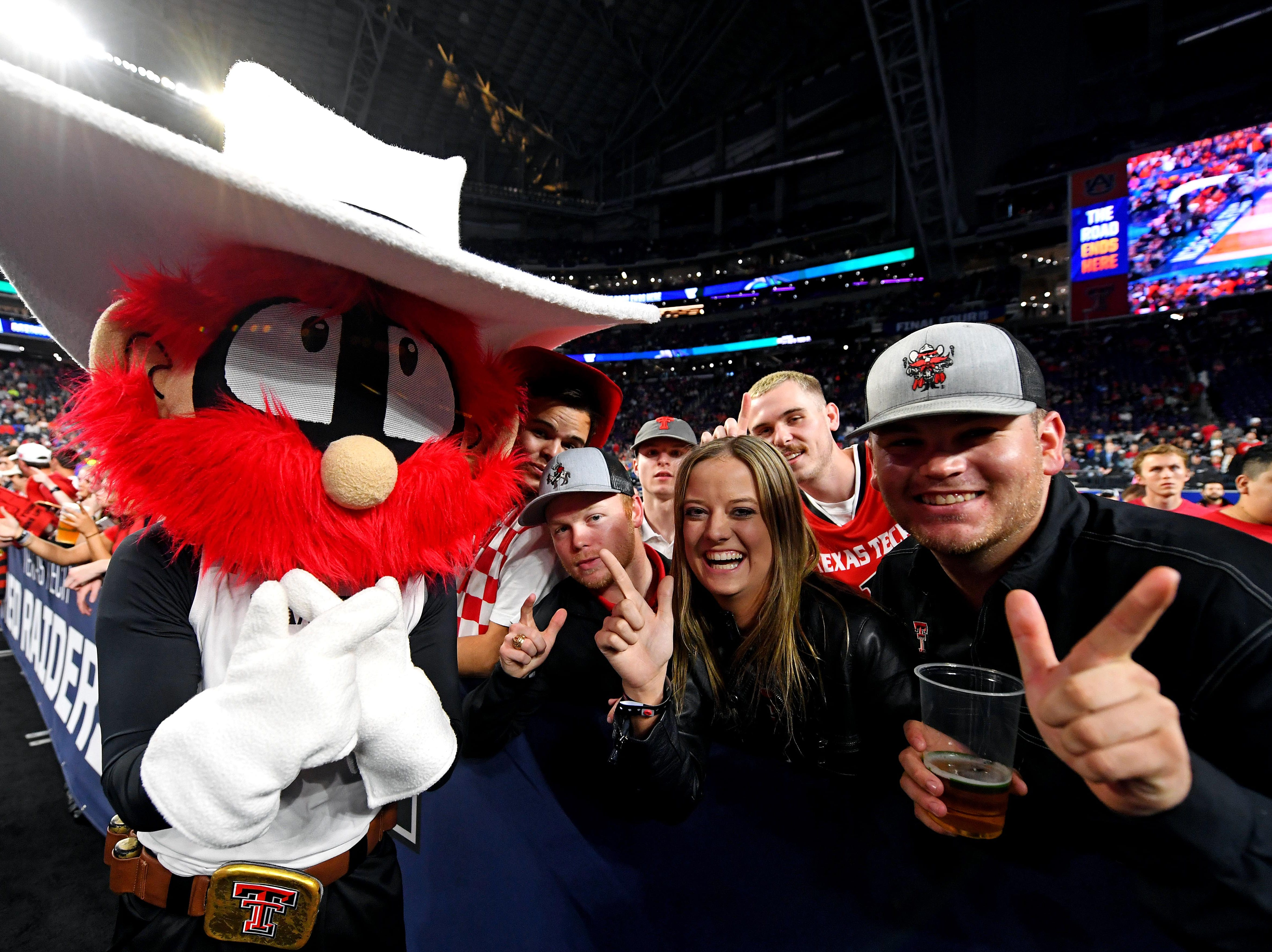 Apr 8, 2019; Minneapolis, MN, USA; Texas Tech Red Raiders fans cheer before the against the Virginia Cavaliers in the championship game of the 2019 men's Final Four at US Bank Stadium. Mandatory Credit: Bob Donnan-USA TODAY Sports
