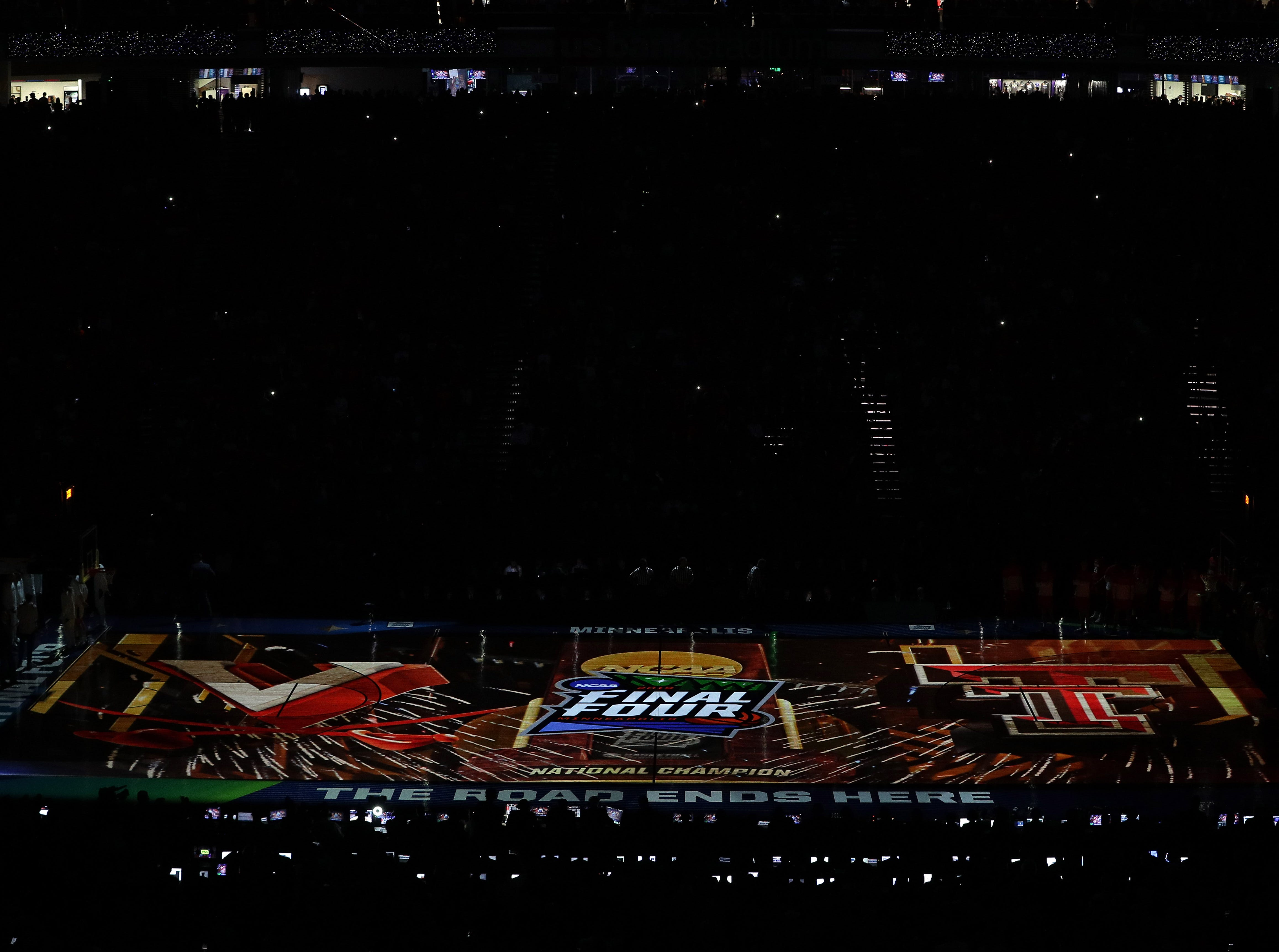 Apr 8, 2019; Minneapolis, MN, USA; A general view of US Bank Stadium before the championship game of the 2019 men's Final Four between the Virginia Cavaliers and the Texas Tech Red Raiders at US Bank Stadium. Mandatory Credit: Brace Hemmelgarn-USA TODAY Sports