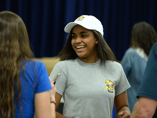 Lee High's Rachel Christian will continue playing volleyball next year at Mary Baldwin College.