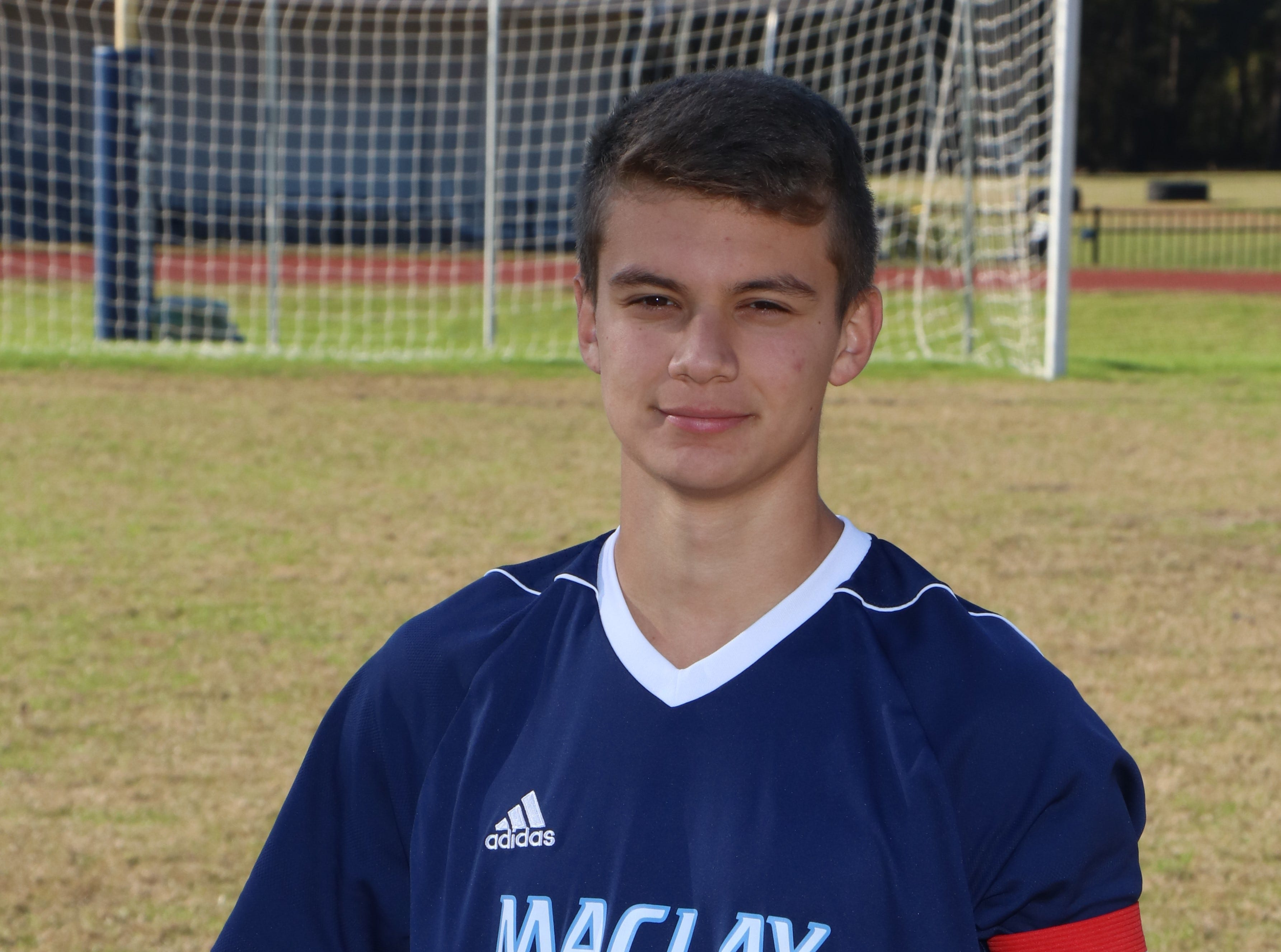 Maclay junior defender Alex Guzman was selected to the 2019 All-Big Bend boys soccer first team.