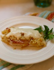 Chicken Cordon Bleu casserole comes together in minutes and bakes in the oven.