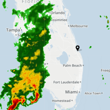 Weak cold front moving across Florida could bring strong storms, gusty winds, hail