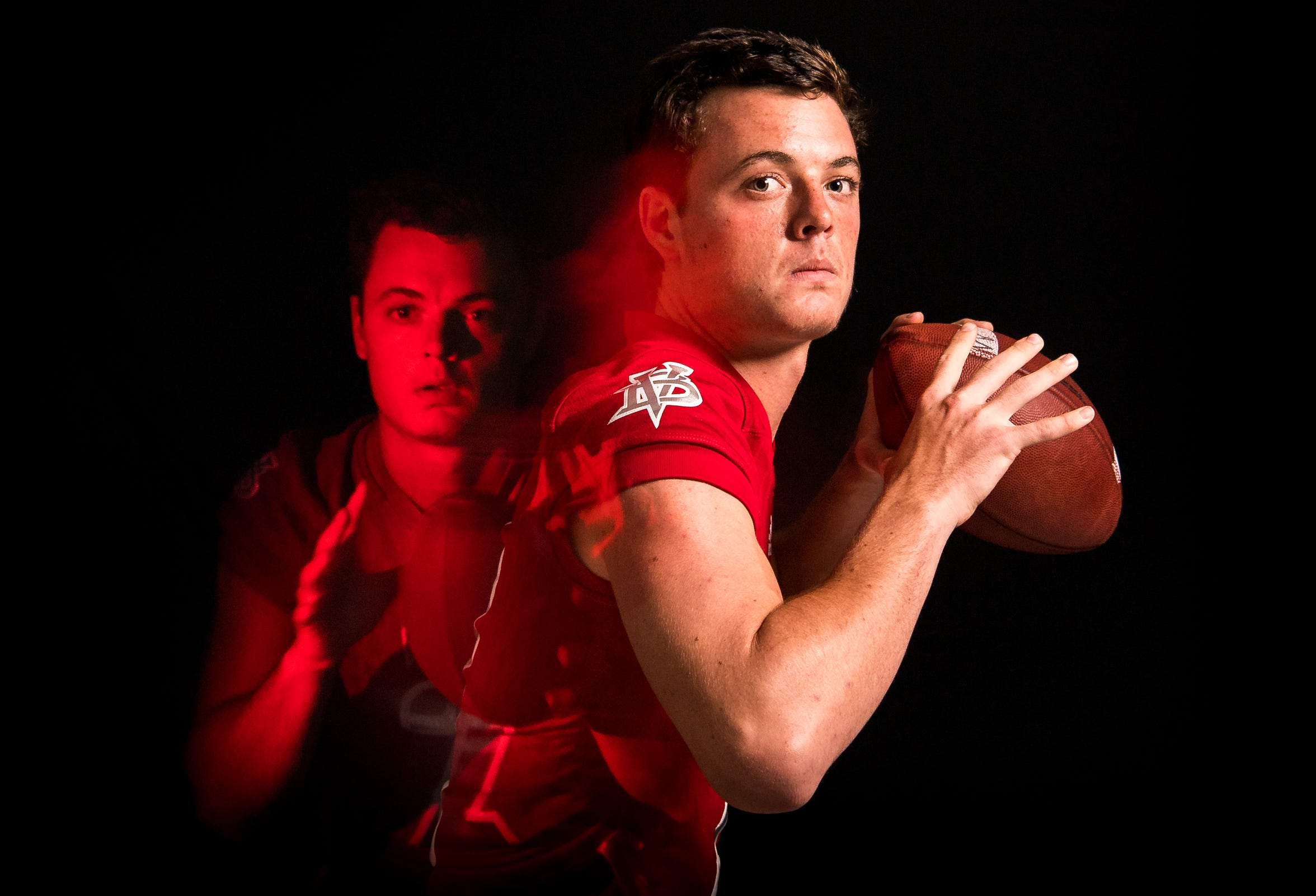 Ryan Jankowski, quarterback for Vero Beach High School football, is photographed Wednesday, April 3, 2019, at TCPalm in Stuart.