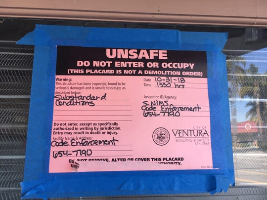 Part of the property just bought by the Housing Authority of the City of San Buenaventura, and formerly owned by Dario Pini, has been red-tagged since October 2018.