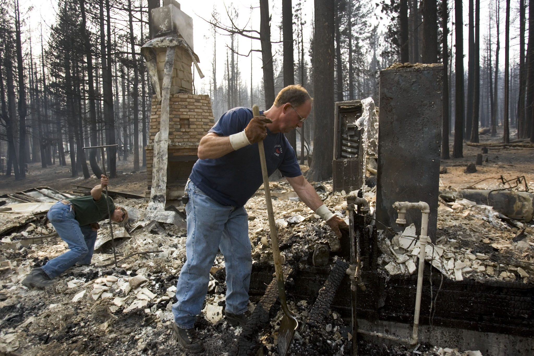 The Angora Fire destroyed hundreds of Tahoe-area homes south of Kings Beach in 2007.