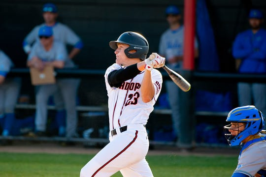 Camarillo High graduate Andrew Lucas was nominated for Big West Conference Baseball Player of the Week after reaching base 11 times in 17 plate appearances for Cal State Northridge.