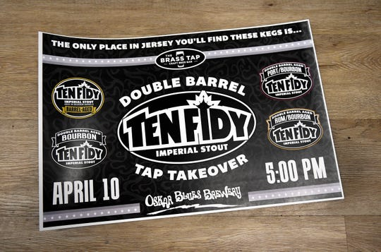 The Ten FIDY tap takeover will take place at the Brass Tap in Vineland on Wednesday, April 10, 2019.