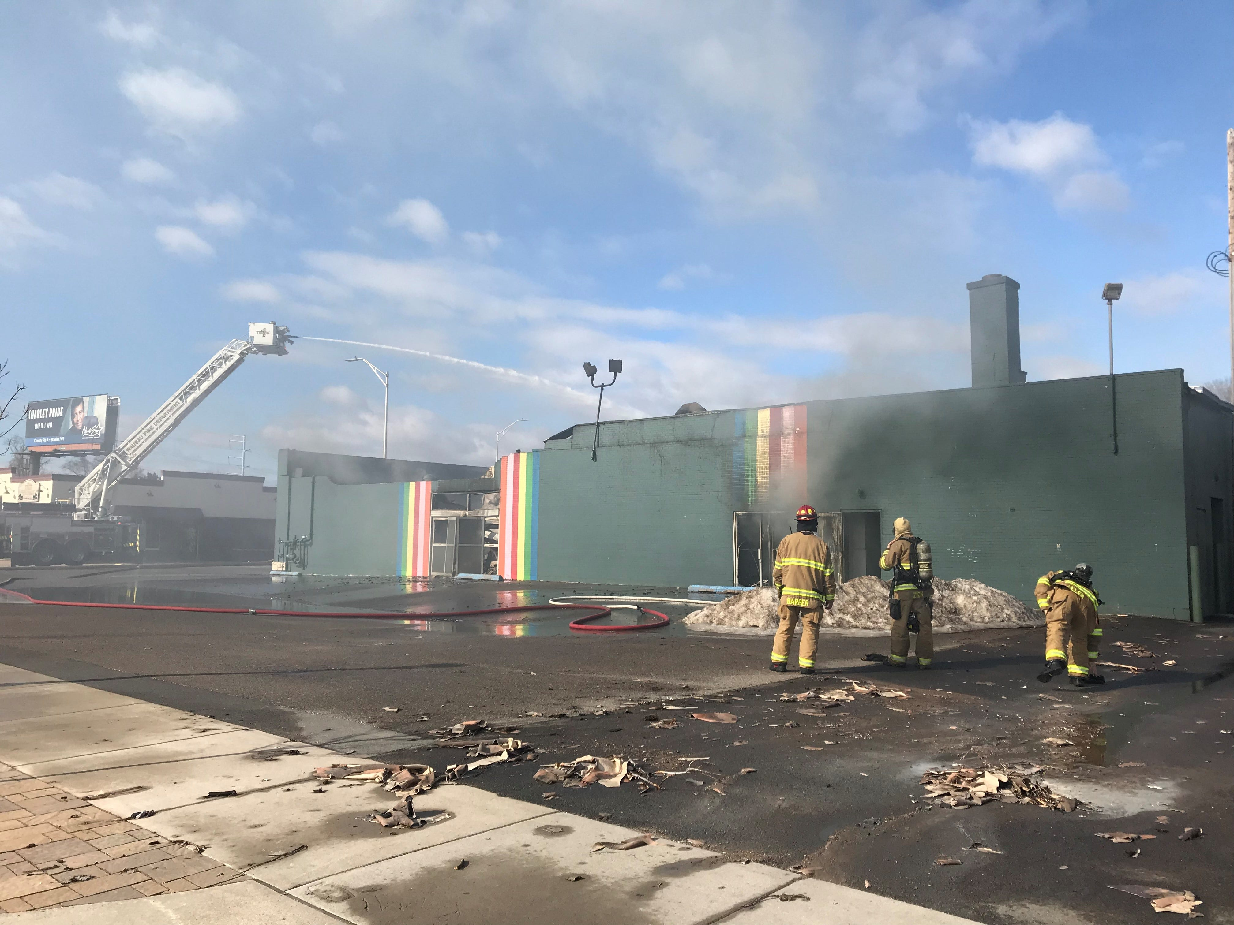 A fire destroyed Rainbow Coin Laundry in Wausau Tuesday morning.