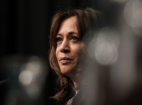 NEW YORK, NY - APRIL 5: Democratic presidential candidate U.S. Sen. Kamala Harris (D-CA) speaks at the National Action Network's annual convention, April 5, 2019 in New York City. A dozen 2020 Democratic presidential candidates are speaking at the organization's convention this week. Founded by Rev. Al Sharpton in 1991, the National Action Network is one of the most influential African American organizations dedicated to civil rights in America. (Photo by Drew Angerer/Getty Images)
