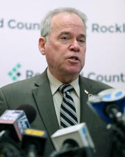 Rockland County Executive Ed Day gives on update on his efforts to fight the measles outbreak in Rockland April 9, 2019.