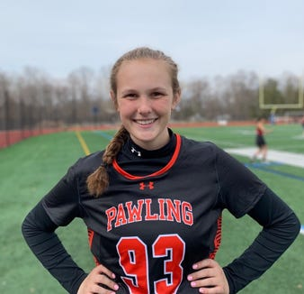 Pawling's Sara Corbi garnered more than 15,000 votes to be named Journal News/lohud girls lacrosse Player of the Week for the week ending April 7, 2019.